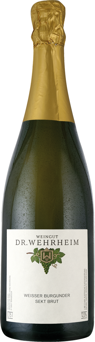 Weißwein Dr. Wehrheim Weisser Burgunder Sekt brut Pfalz 24,27? pro l