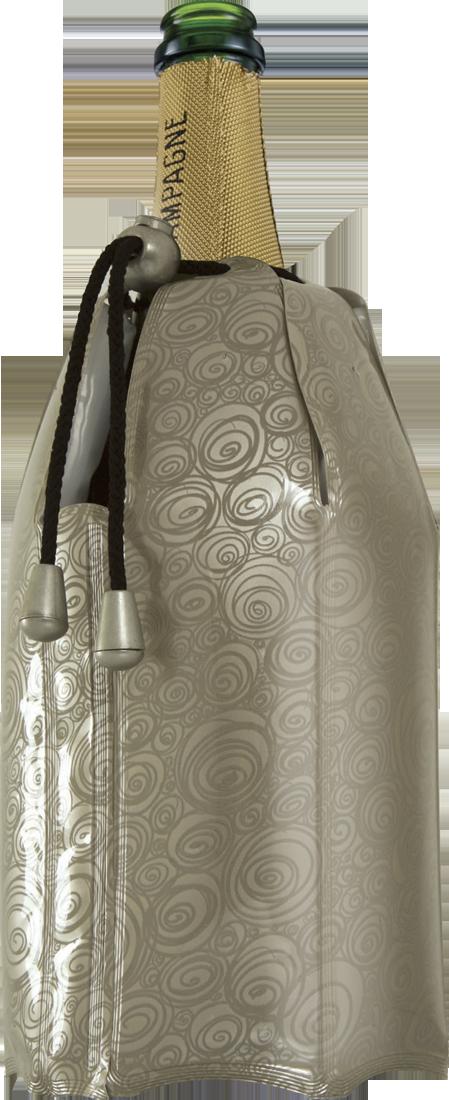 Vacu Vin Aktiv Champagnerkühler Manschette Platinum - broschei