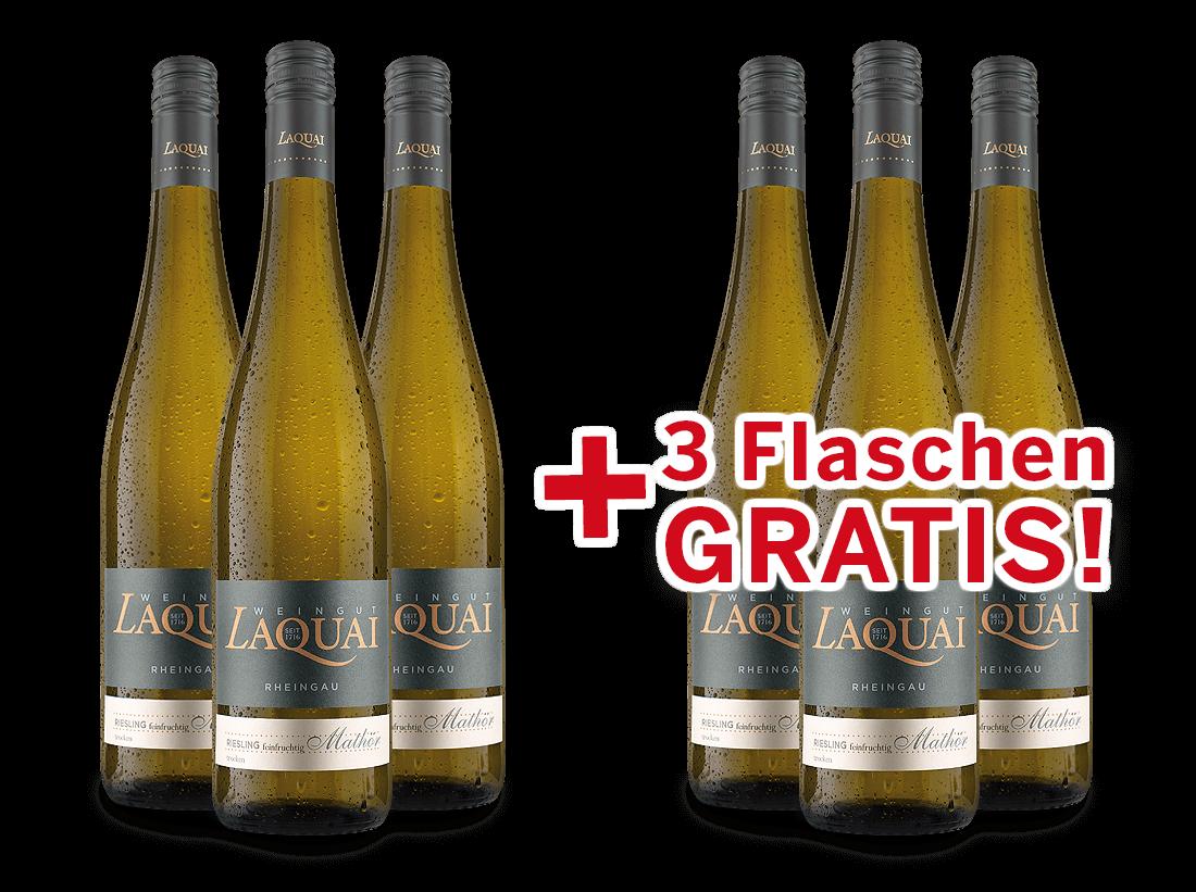 Vorteilspaket 6 für 3 Laquai Riesling Mathör feinfruchtig10,33? pro l