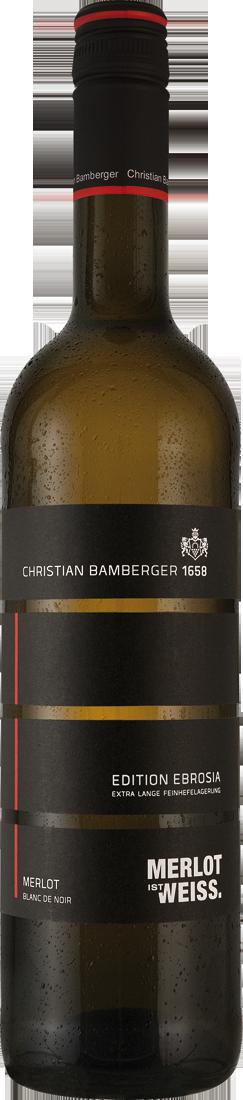 Weißwein Christian Bamberger Merlot Blanc de Noir EDITION EBROSIA Nahe 9,99€ pro l