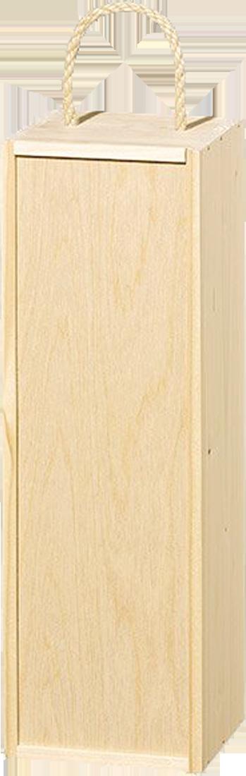 Holzkiste für 1 Magnumflasche mit Seilgriff