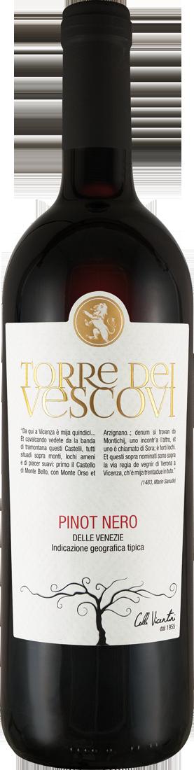 Rotwein Cantina Colli Vicentini Pinot Nero Torre dei Vescovi Vicenza DOC Venetien 7,99€ pro l