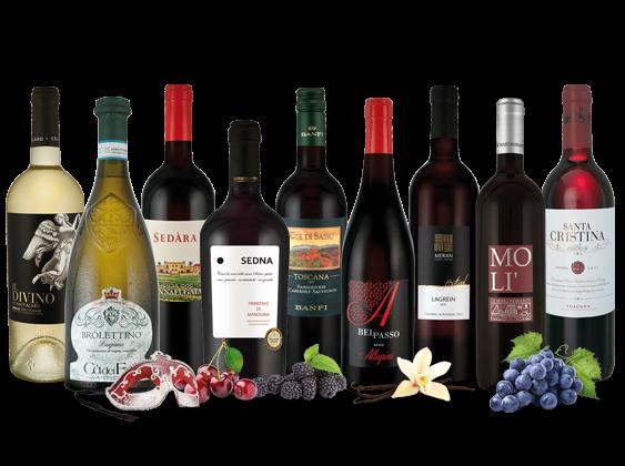 Vorteilspaket Italiens feine Weine