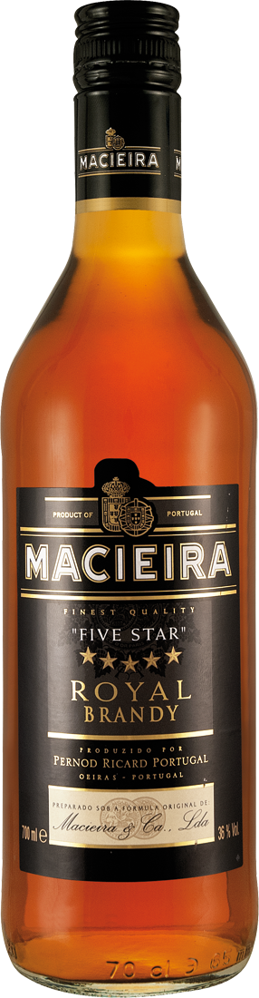 Pernod Ricard Casa Macieira Royal Brandy ´´Five Star´´ 36% vol. 0,7l18,56€ pro l