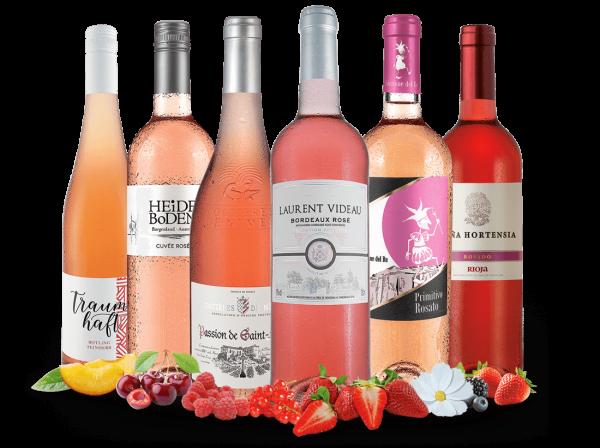 Sommer in Rosé mit 6 Flaschen