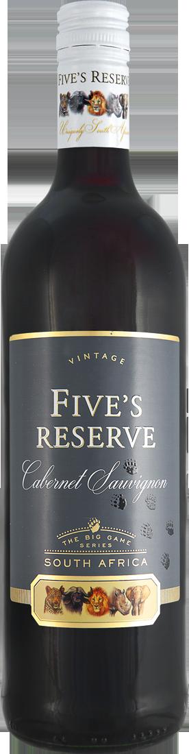 Rotwein Van Loveren Fives Reserve Cabernet Sauvignon Western Cape 9,27? pro l