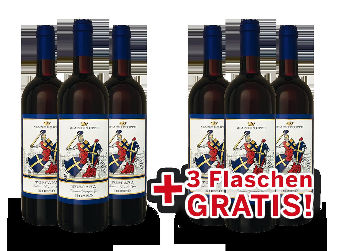 Vorteilspaket 6 für 3 Manoforte Sangiovese di Toscana6,59€ pro l