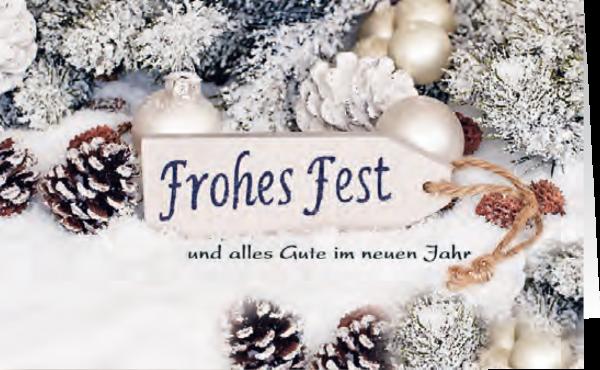 Grußkarte Frohes Fest 'Schneeimpressionen'