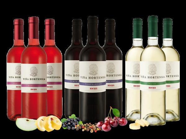 Kennenlernpaket Viña Hortensia Preferido mit je 3 Flaschen