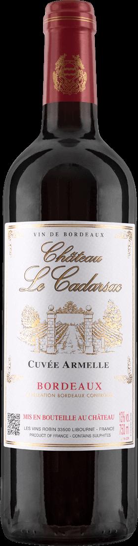 Rotwein Château Le Cadarsac Cuvée Armelle AOC Bordeaux 8,65€ pro l