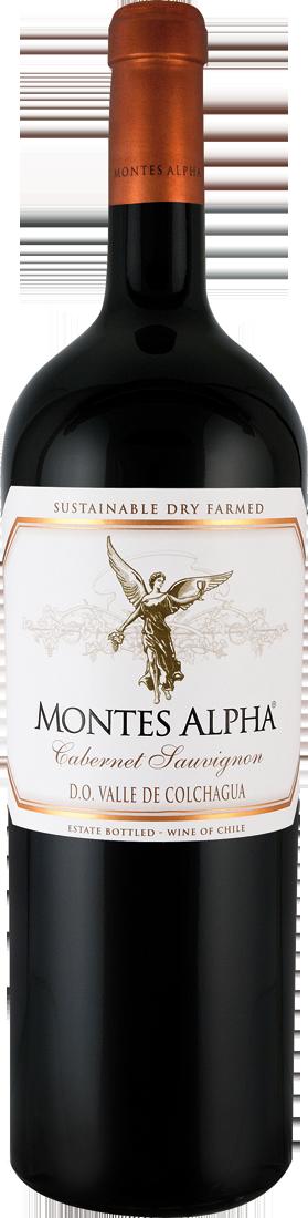 Rotwein Montes Alpha Cabernet Sauvignon Magnum 1,5l Colchagua Valley 18,66€ pro l