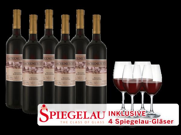Vorteilspaket 6 Flaschen SACREMUS XV inkl. 4 Gläser