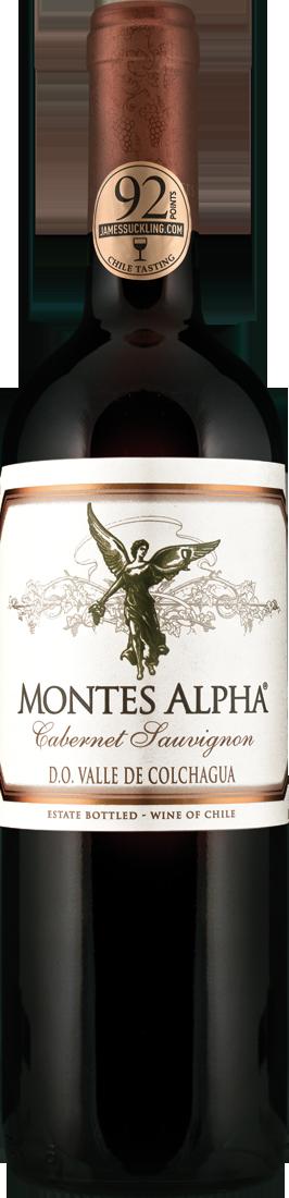 Rotwein Montes Alpha Cabernet Sauvignon Colchagua Valley 16,92€ pro l