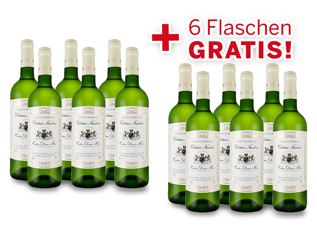 Vorteilspaket 12 für 6 Schröder & Schÿler Château Naudeau Blanc8,89? pro l