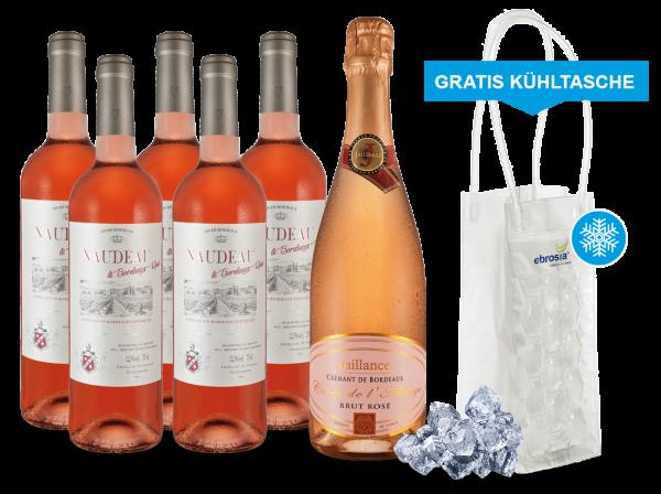 Rosé-Genuss aus Bordeaux inkl. Cooling Bag