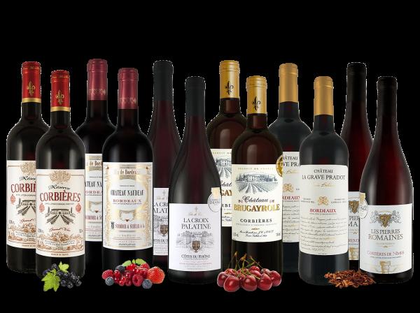 Französisches Rotwein Topseller Probierpaket