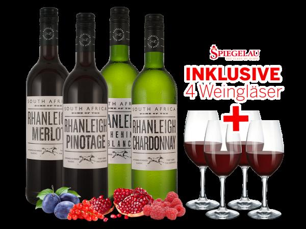 Kennenlernpaket Arabella Wines Rhanleigh-Serie inkl. 4 Gläser
