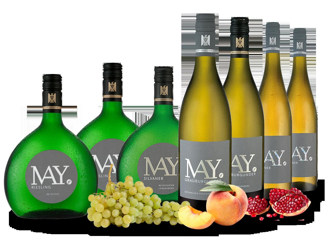 Vorteilspaket Weingut Rudolf May aus Franken zum Kennenlernen14,44€ pro l