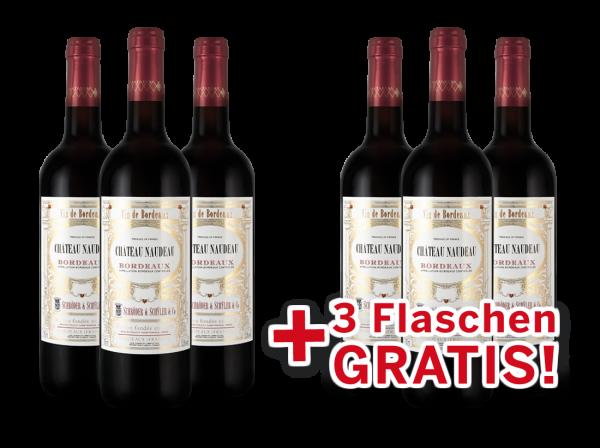 Vorteilspaket 6 für 3 Schröder & Schÿler Château Naudeau Bordeaux