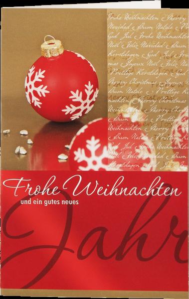 Grußkarte 'Frohe Weihnachten'