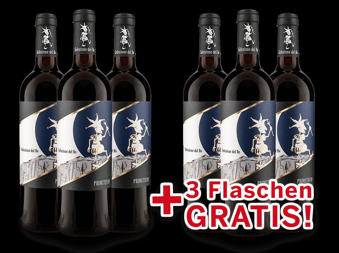 Vorteilspaket 6 für 3 Torrevento Primitivo Selezione del Re8,33? pro l