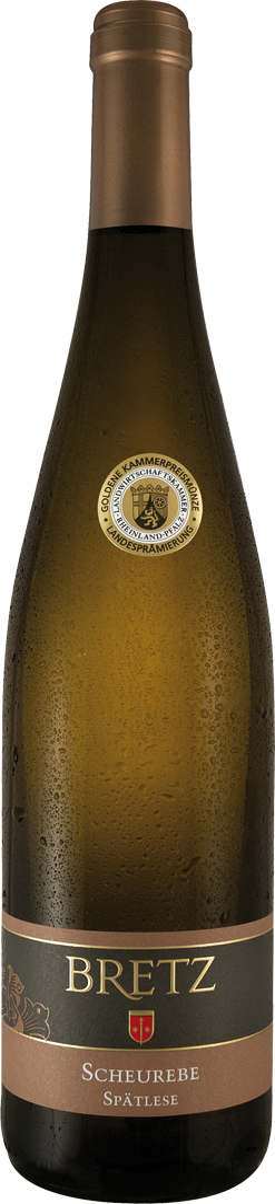 Weißwein Ernst Bretz Scheurebe Spätlese mild Prädiktatswein Rheinhessen 9,72? pro l
