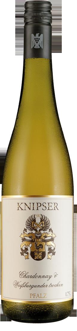 Weißwein Knipser Chardonnay & Weißburgunder QbA Pfalz 14,40€ pro l