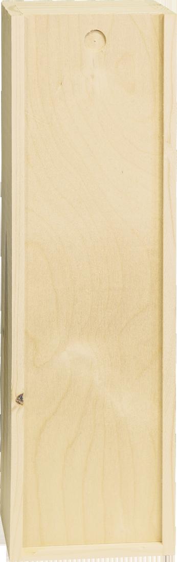 Holzkiste für 1 Flasche mit Schiebedeckel