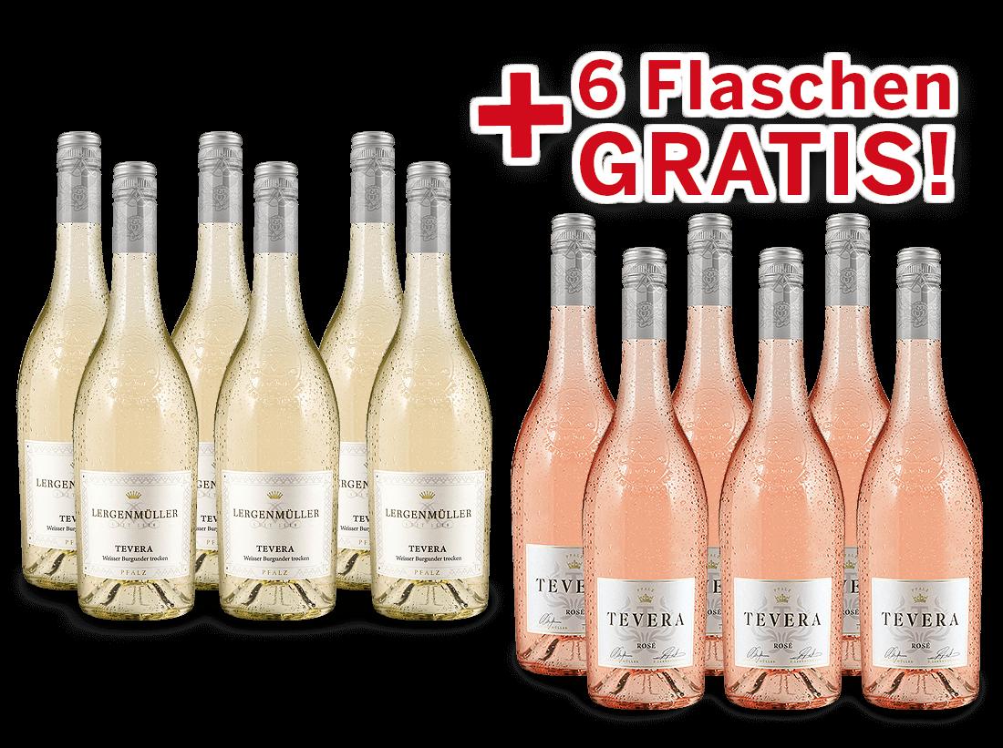 Vorteilspaket Lergenmüller Weißburgunder & Rosé Saigner TEVERA8,89? pro l