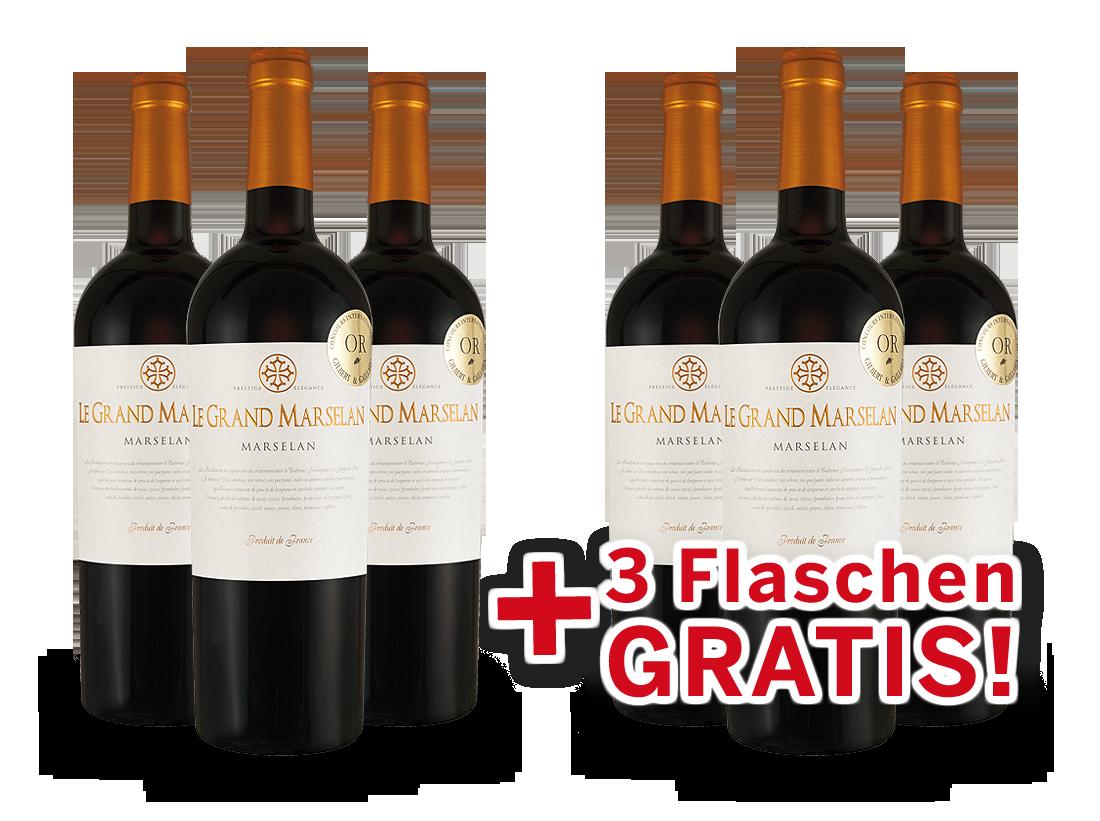 Vorteilspaket 6 für 3 Joseph Castan Le Grand Marselan8,66? pro l