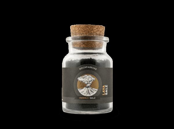 Die KOCHfabrik Lava Salz - schwarzes Hawaisalz 180 g