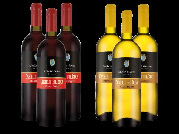 Probierpaket Medici Ermete Castelli del Duca mit je 3 Flaschen