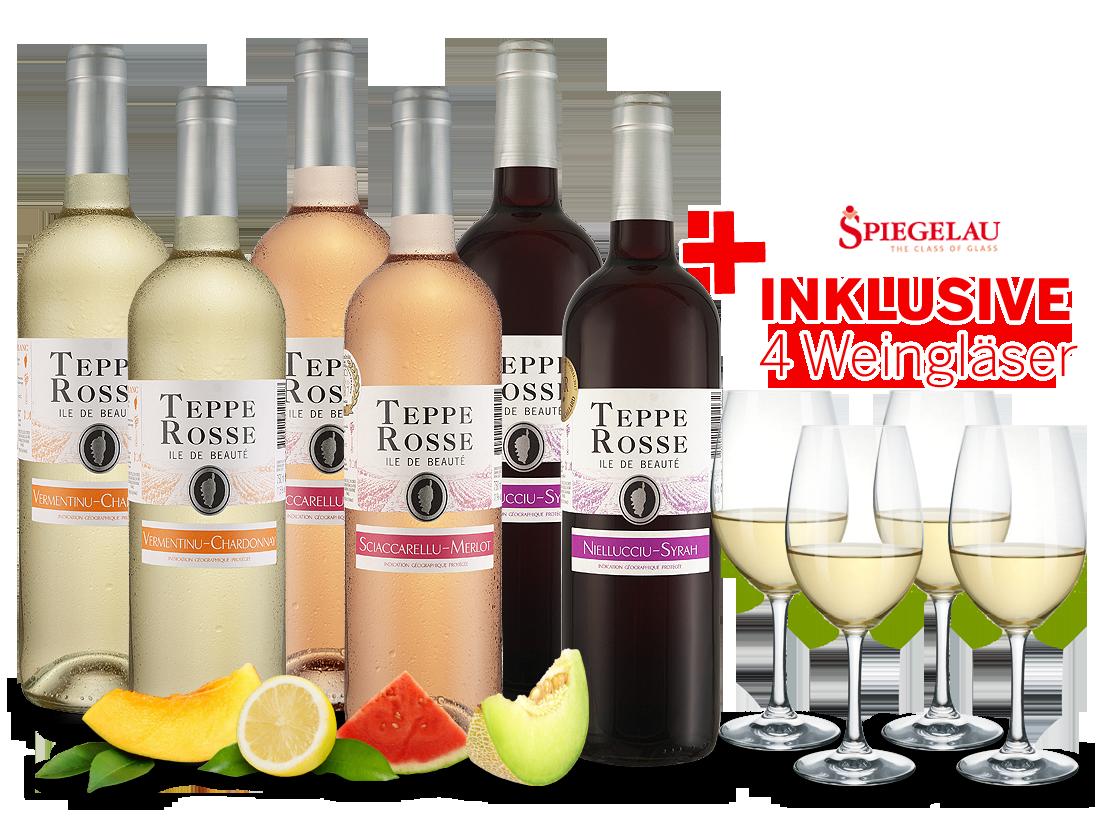 Kennenlernpaket Les Vignerons dAghione Teppe Rosse mit je 2 Flaschen inkl. 4 Gläser8,89€ pro l jetztbilligerkaufen