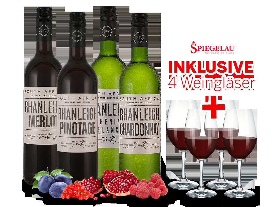 Schipkau Annahütte, Karl-Marx-Siedlung Angebote Kennenlernpaket Arabella Wines Rhanleigh-Serie inkl. 4 Gläser10,00€ pro l