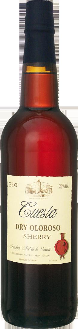 Rotwein Bodegas José de la Cuesta Sherry Dry Oloroso Jerez 11,99€ pro l