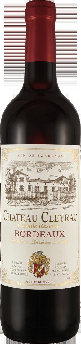Rotwein Château Cleyrac Grande Réserve AOC Bordeaux 9,32€ pro l