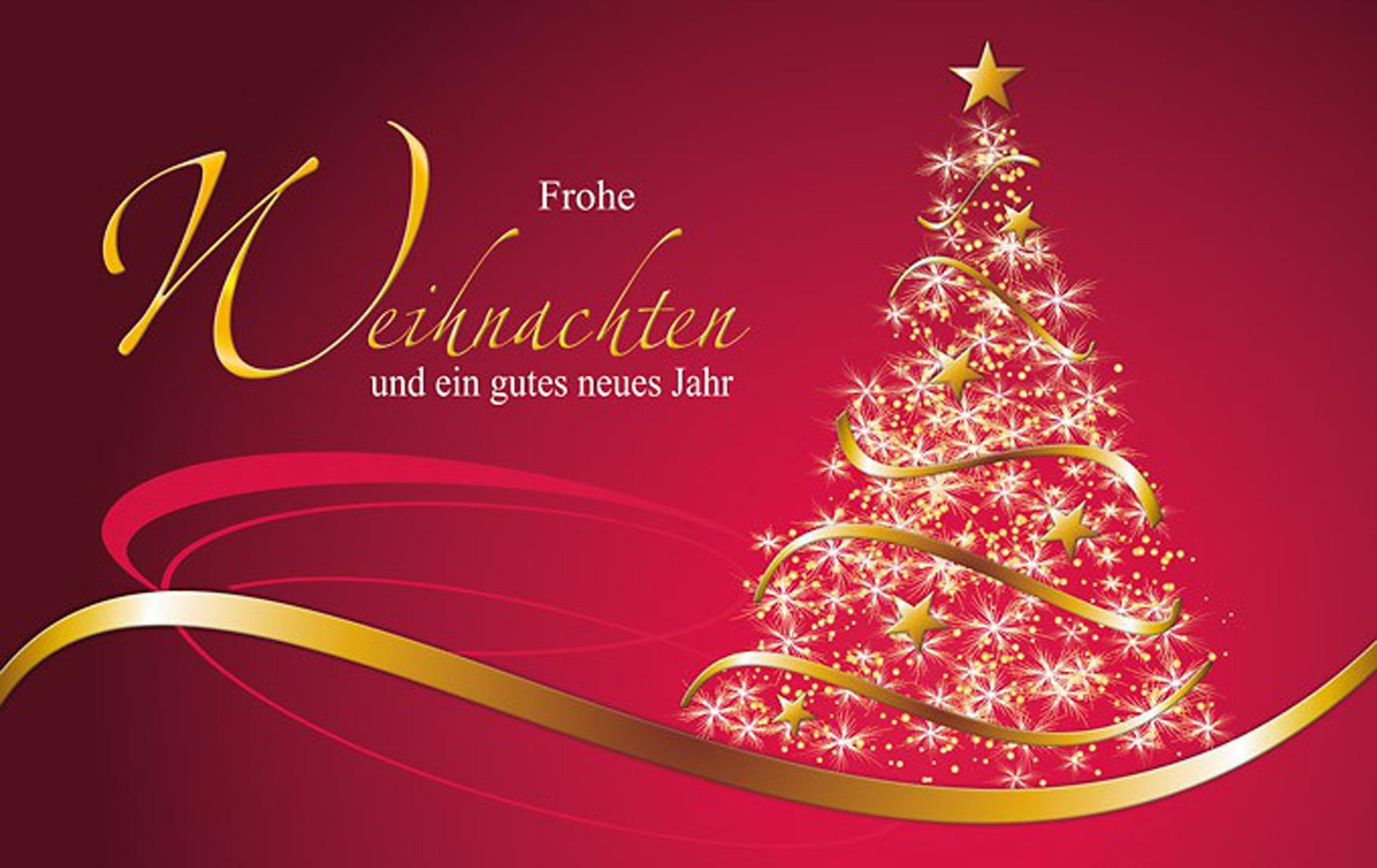 Grußkarte Weihnachten Lichterbaum