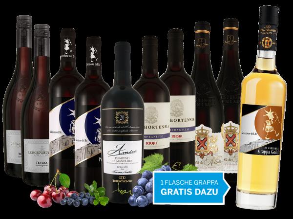 Vorteilspaket Happy Hour 2018 und 1 Flasche Grappa gratis