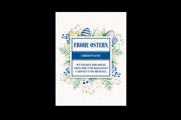 Etikett Frohe Ostern