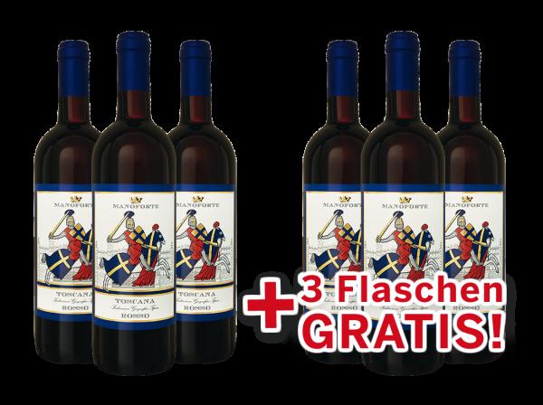 Vorteilspaket 6 für 3 Manoforte Sangiovese di Toscana