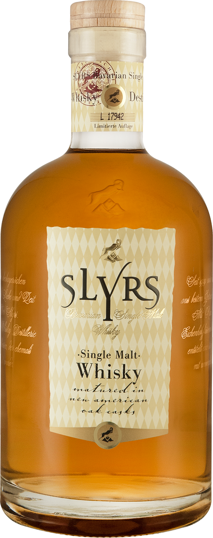 SLYRS Single Malt Whisky 43% vol. Bayern 65,57€ pro l