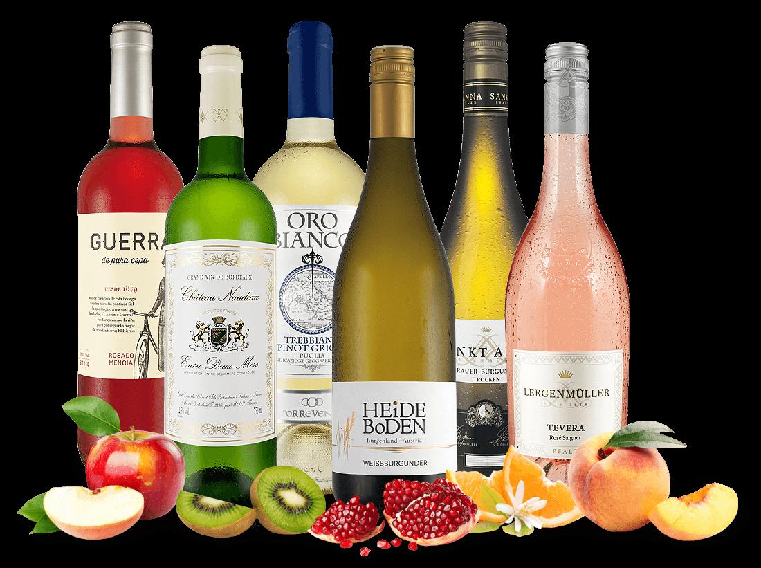 Probierpaket Rosé- und Weißwein-Saisonpaket8,89? pro l
