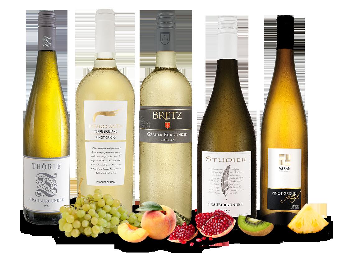 Edle Grauburgunder - ´´Entdecker´´ Wein-Probierpaket8,87€ pro l