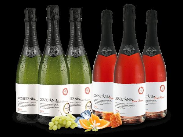 Vorteilspaket Cava Cossetània Reserva & Rosato mit 6 Flaschen