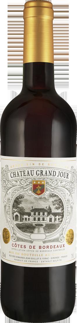 Rotwein Château Grand Jour Bordeaux AOC Bordeaux 9,32€ pro l