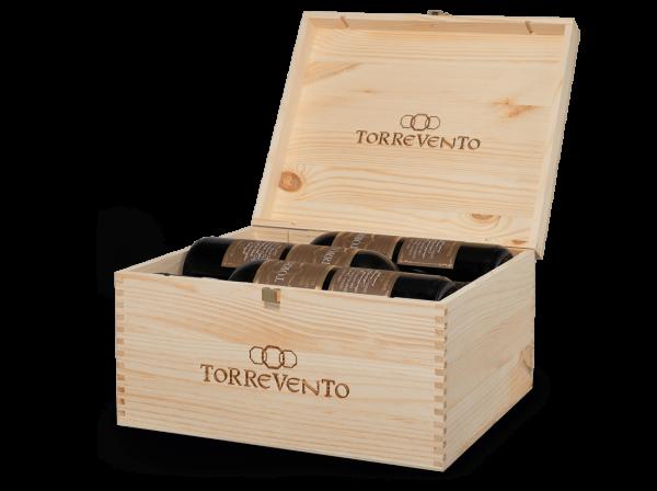 Torrevento 8 TORRI Castel del Monte Riserva DOCG mit 6 Flaschen in der Original-Holzkiste