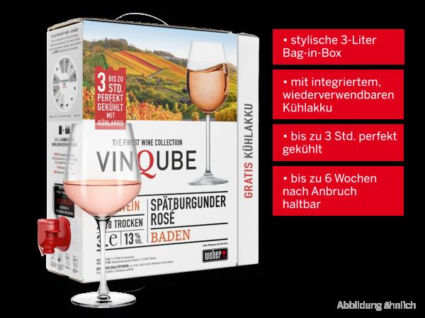 Vinqube Spätburgunder Rosé Baden 3 l mit wiederverwendbaren Kühlakku