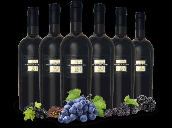 Vorteilspaket 6 Flaschen Sessantanni Primitivo di Manduria DOC