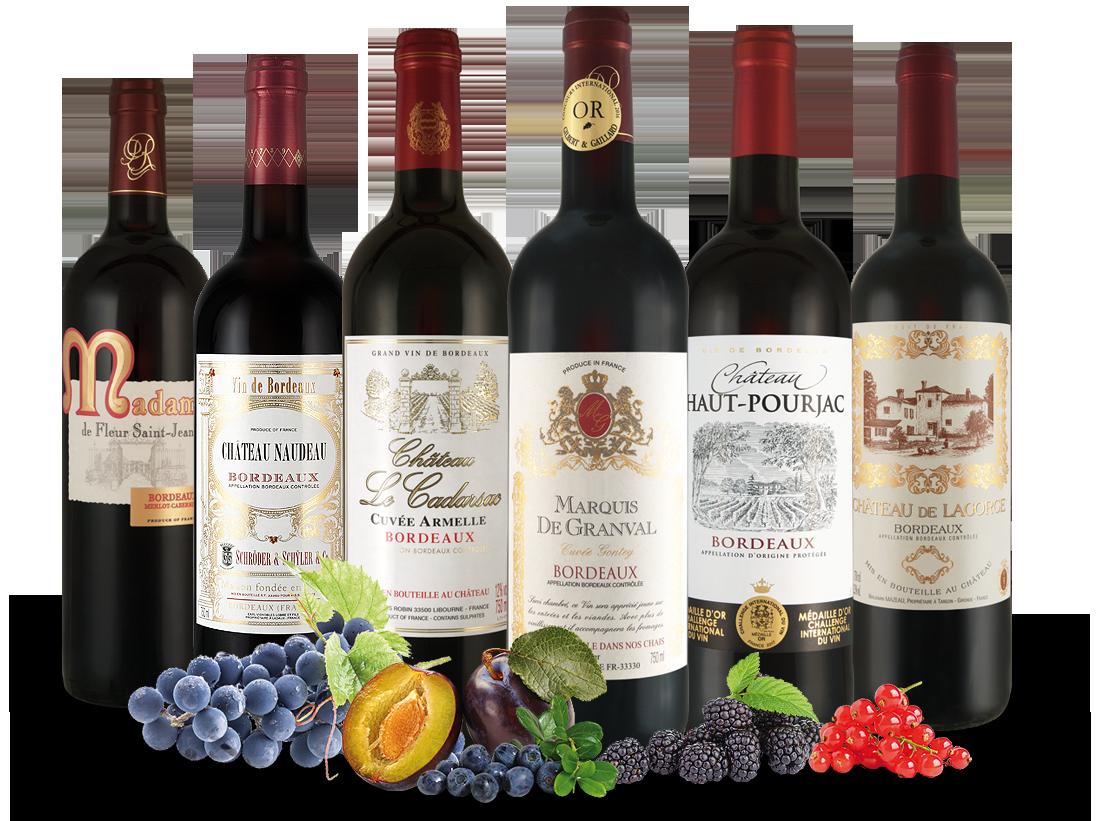 Bordeaux-Schätze von kleinen Châteaux8,89? pro l