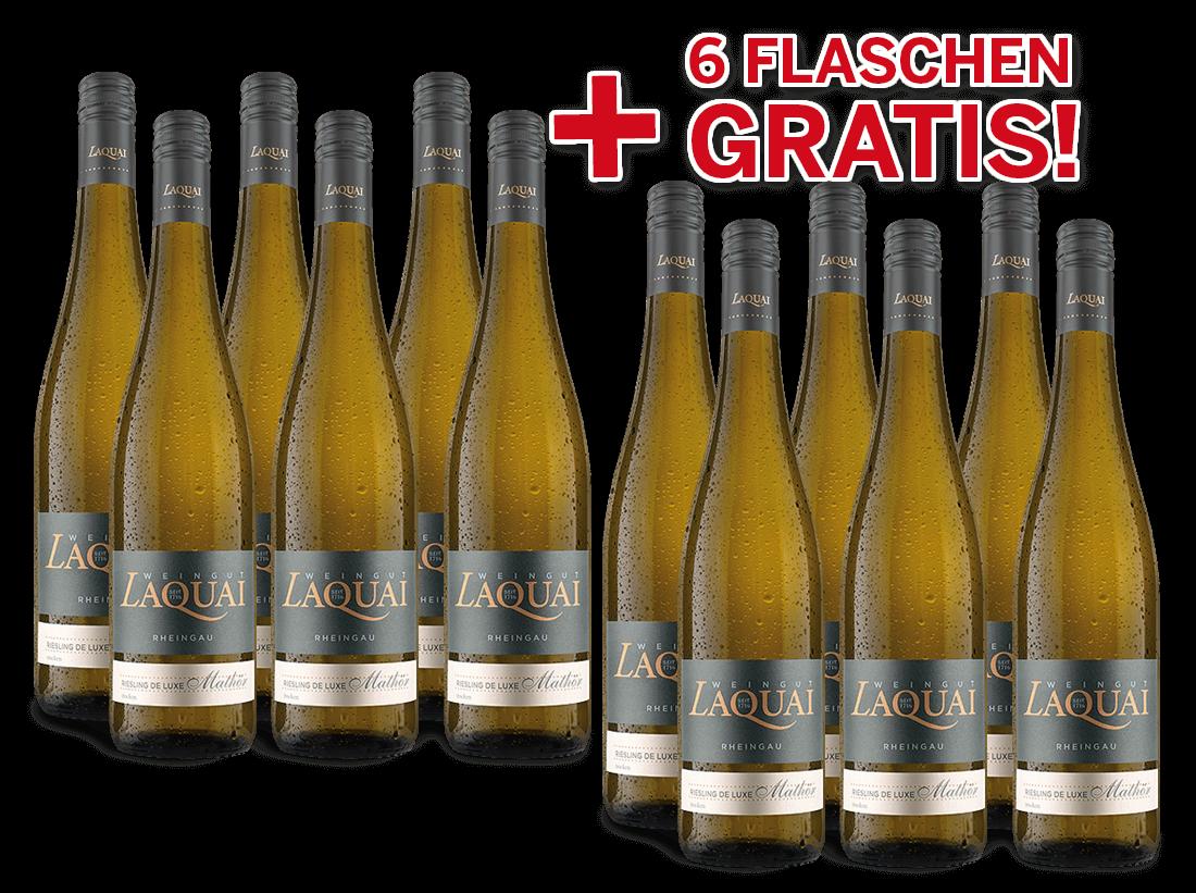 Vorteilspaket 12 für 6 Laquai Riesling de luxe Mathör9,99? pro l